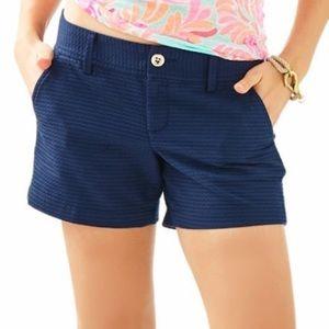 Lilly Pulitzer Navy Callahan Shorts